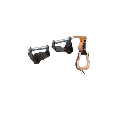 """Many saddles made today do not have the stirrups turned so when the rider puts their foot into the stirrup, they have to twist the stirrup and fender with their foot. This stresses the ankle and knee while riding and is uncomfortable. By using the STIRRUP STRAIGHT you can now easily have stirrups that are in the right position! The STIRRUP STRAIGHT is designed to actually position the stirrup off center to alleviate stress in the knee and ankle. Solid steel construction and available in 2 1/2"""" and 3"""" sizes.   Made in the U.S.A."""