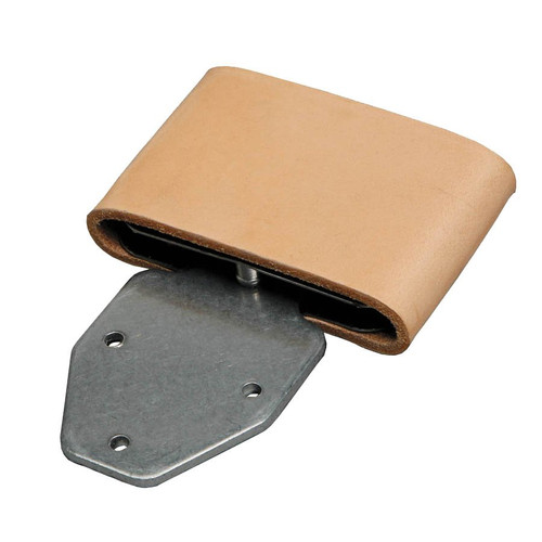 "For stirrup leathers 2 1/2"" wide. Vertical Post Style with Leather Sleeves.  Made in U.S.A."