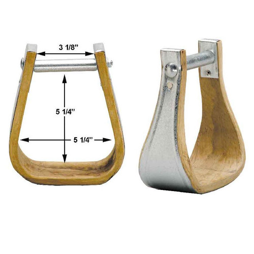 These stirrups are made from good quality hardwood and then bound in galvanized metal for extra strength and durability.   Made in the U.S.A.