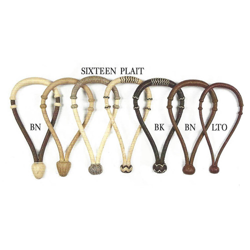 Sixteen Plait Hackamore , Bosal and Bosalito in Rawhide and Leather with medium rawhide core. Great for show or work.