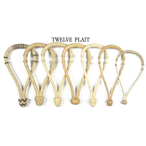 Wide selection of quality twelve plait Hackamore, Bosals and Bosalitos with medium rawhide core. Great for everyday work or show.