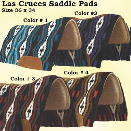MAYATEX - Las Cruces Woven Contour Pad. Made with 100% wool felt and 3/8 Elastomeric Foam; a non-porous material that will not permit mold, fungal or bacterial growth. An antimicrobial agent is applied to the Elastomeric Foam for added protection.  Top grain wear leathers are included.   Comes in four beautiful colors  Size 36 X 34.