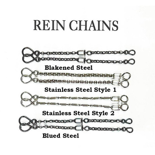 Beautiful selection of Rein Chains that will enhance the feel of  the Rommel reins along with adding style to your setup.