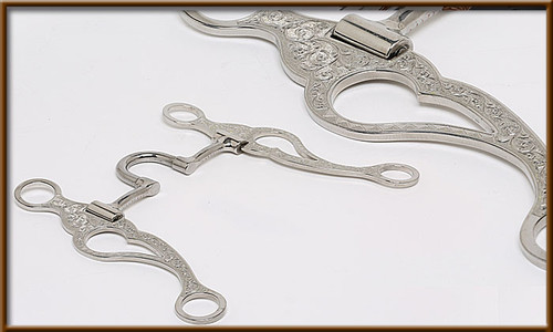 This Engraved Correction Bit is stylish and functional for training your young horse.