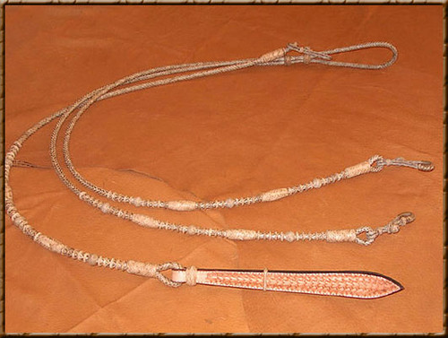 Natural Rawhide with Vaquero Button Design are Great for Everyday Work on the Ranch or in the Show Ring.