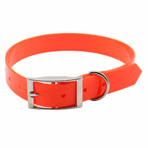 Narrow Orange Dog Collar