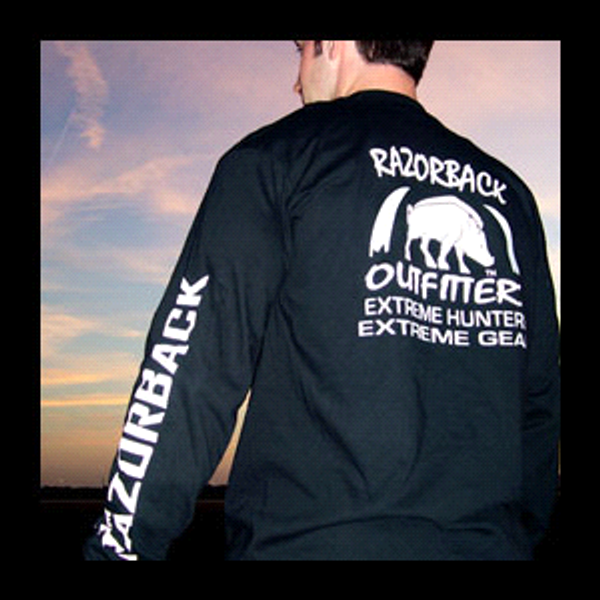 Team Razorback Outfitters Long Sleeve T-Shirt Back View