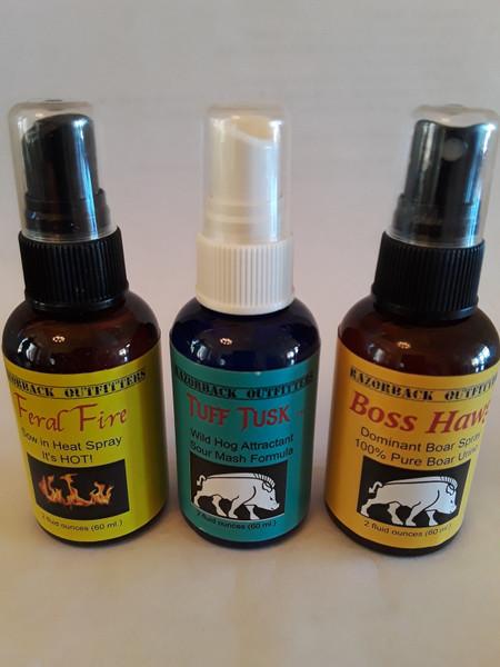 Triple Play Three Wild Hog Scent Attractants