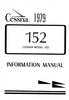 Cessna C-152 (1979) Pilot Operating Handbook