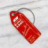 AviationTag Airbus A340 Keychain  - EC-GUP - Light Red
