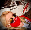 """Reusable Aviation Mask: """"KISS ME BEFORE FLIGHT"""" (Colour: RED) (Mask-6)"""