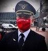 """Reusable Aviation Mask: """"REMOVE BEFORE FLIGHT"""" (Colour: RED) (Mask-7)"""