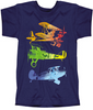 Watercolor Airplanes Youth  T-Shirt