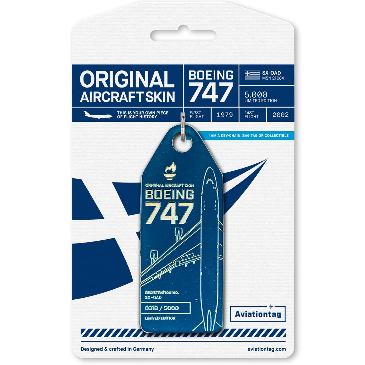 Olympic Airways AviationTag 747 Keychain