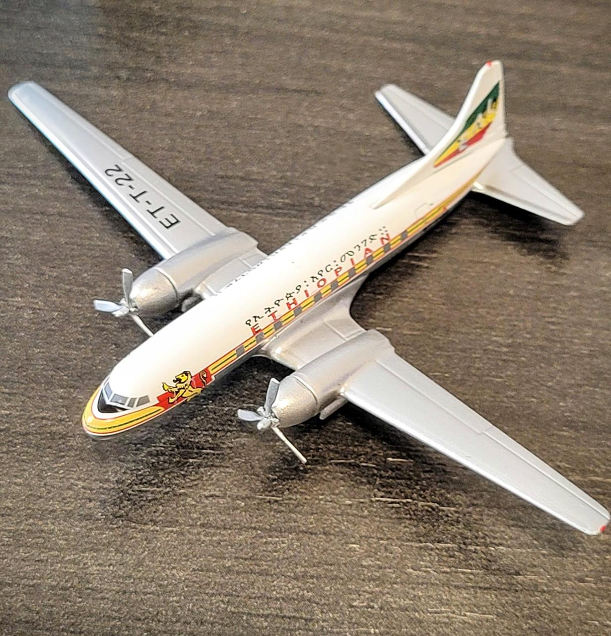 *DAMAGED MODEL* Aeroclassics 1:400 Ethiopian CV-440