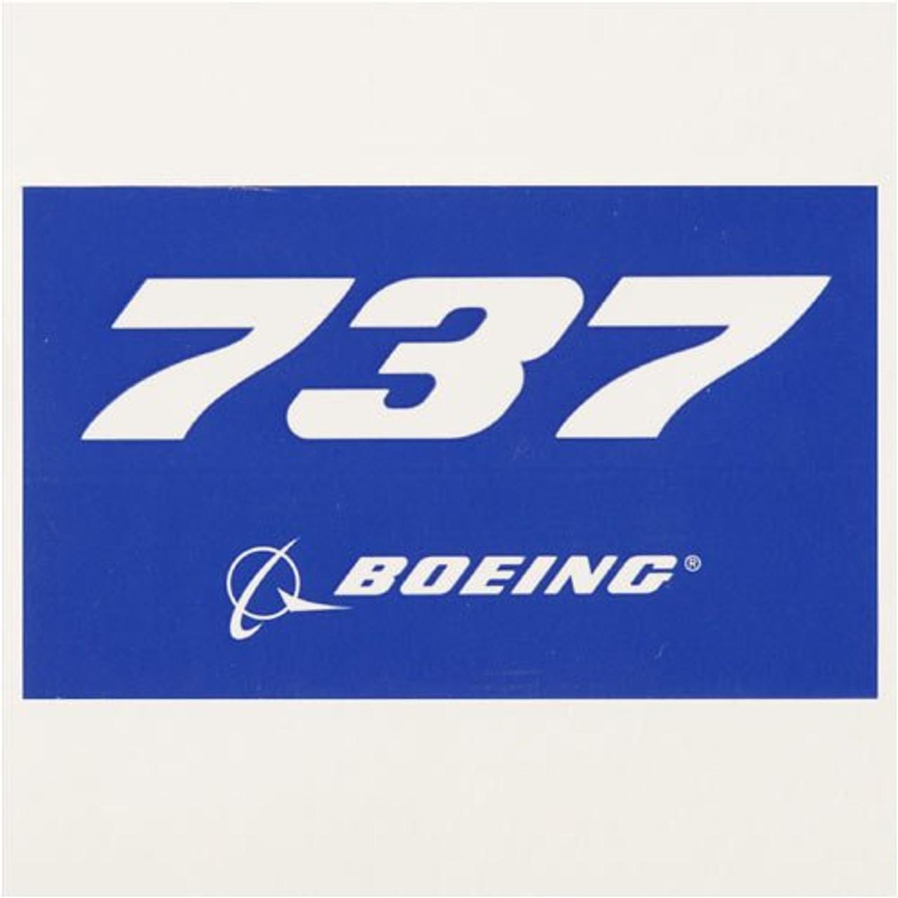 737 Blue Sticker