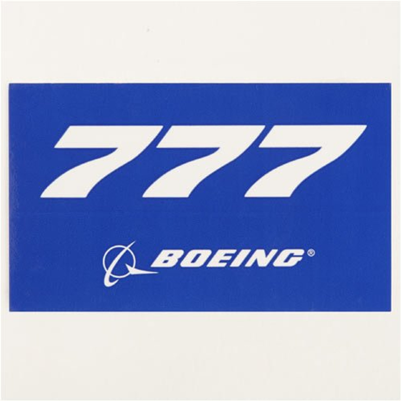 777 Blue Sticker
