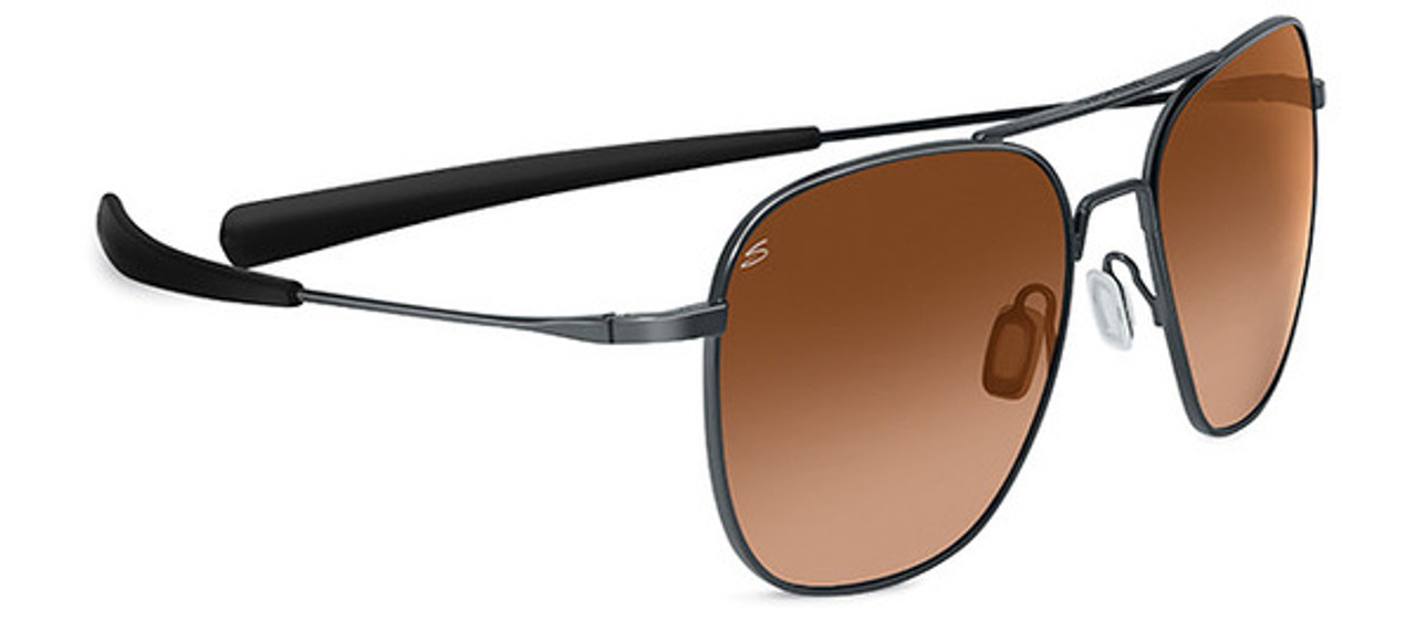 Serengeti Aerial Shiny Gunmetal Drivers Gradient Non Polarized