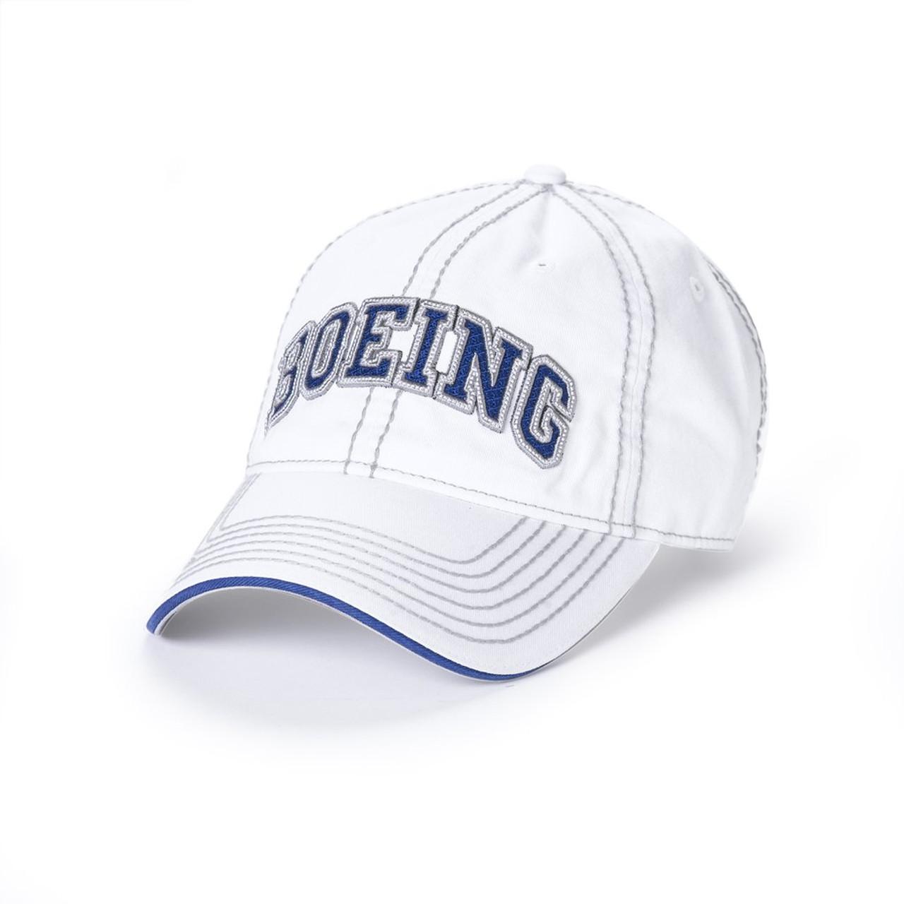 Boeing Varsity Heavy Stitch Cap (White)
