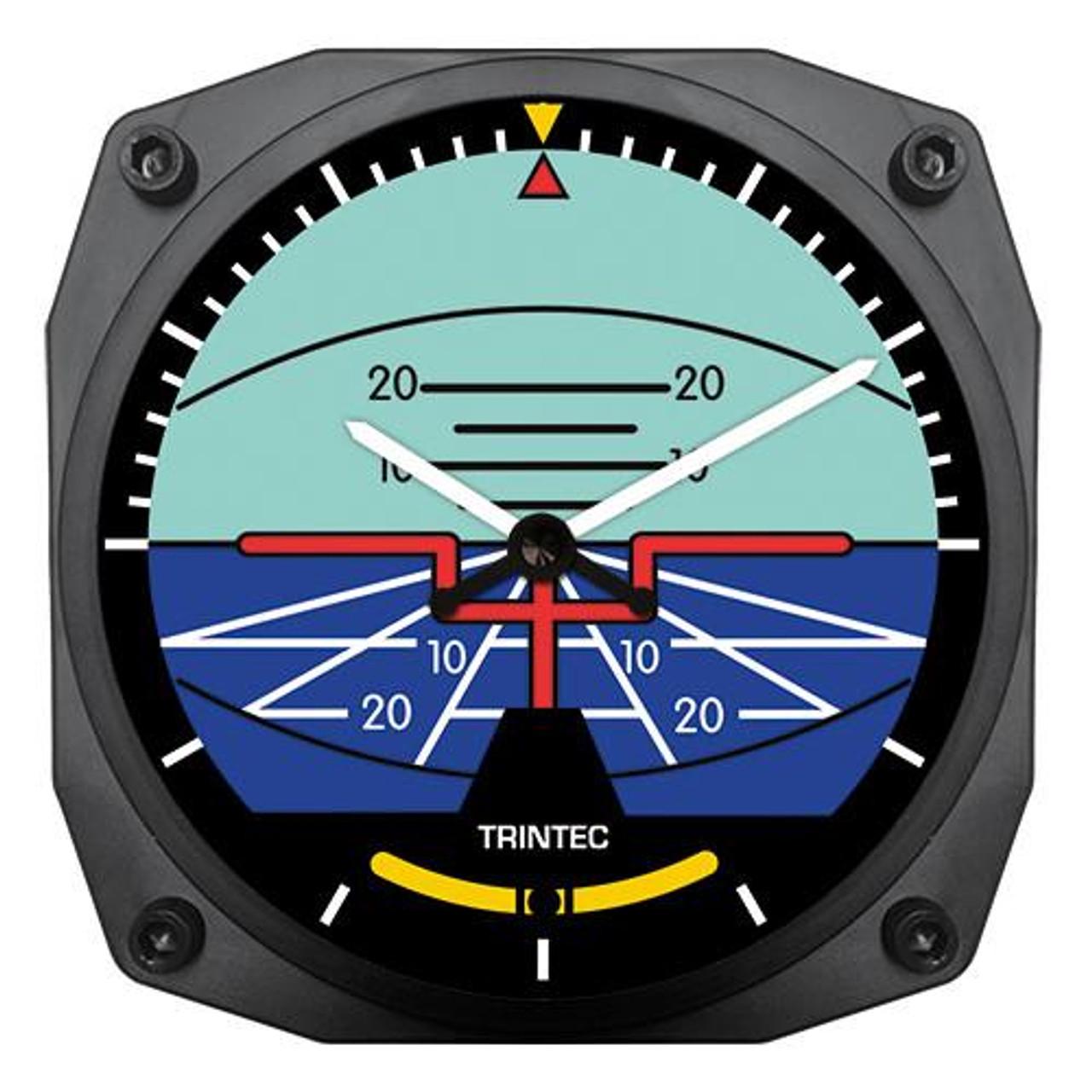 "6"" Artificial Horizon Instrument Style Clock"