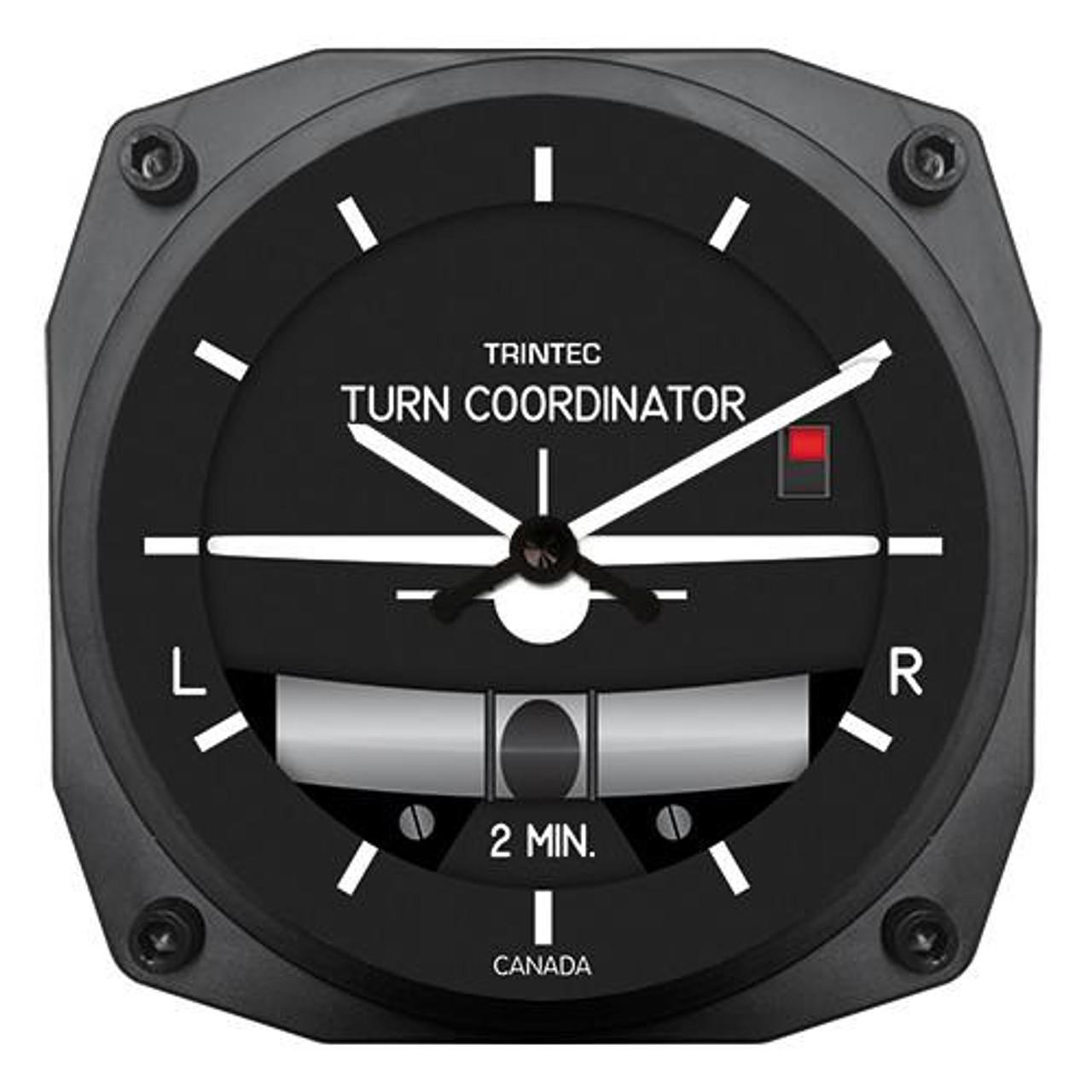 "6"" Bank & Turn Indicator Style Clock"