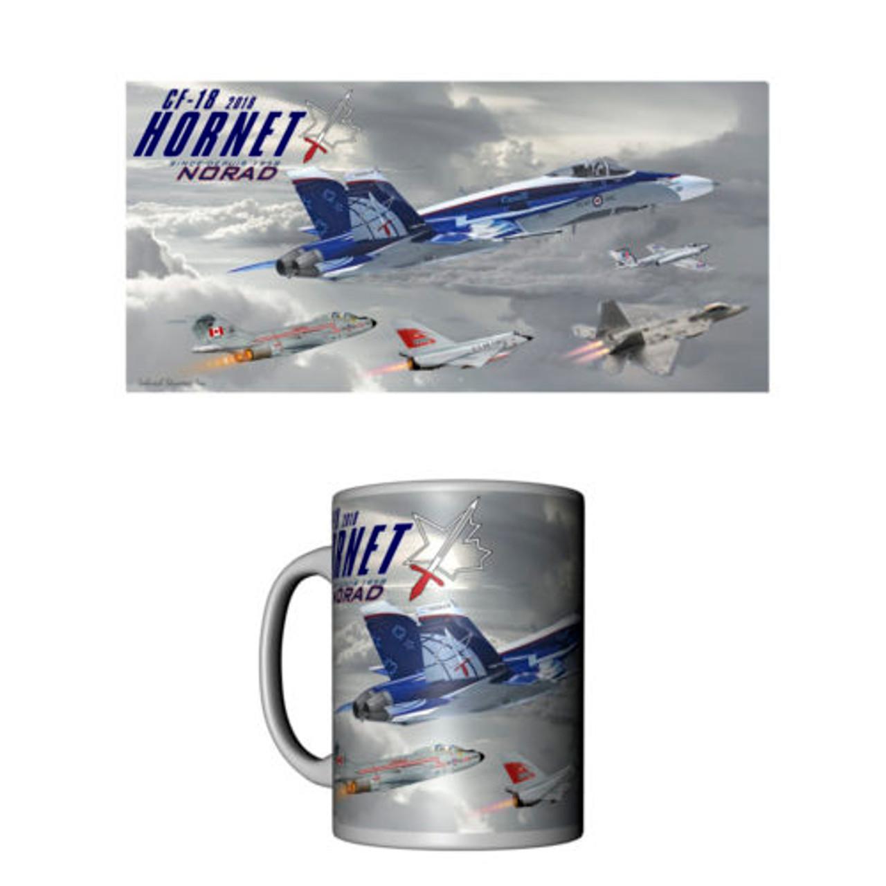 Norad 60th Anniversary CF-18 Hornet Ceramic Mug
