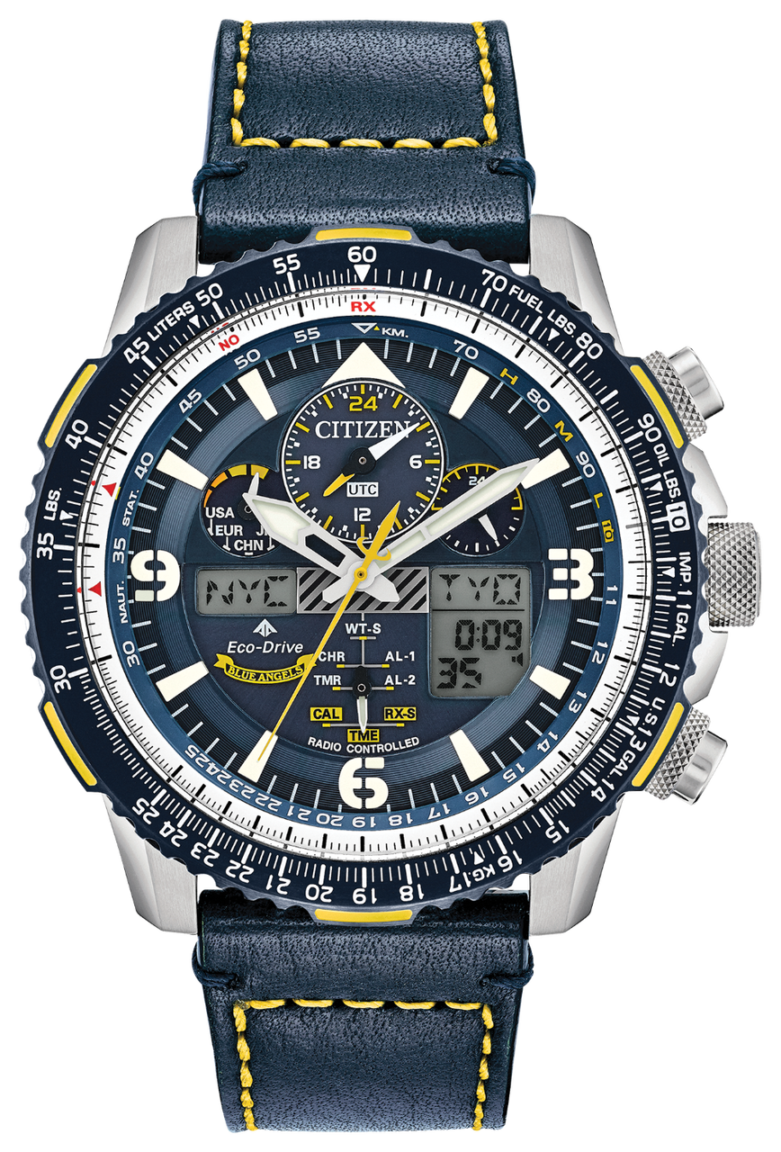 Citizen Skyhawk Watch Blue Angels Leather
