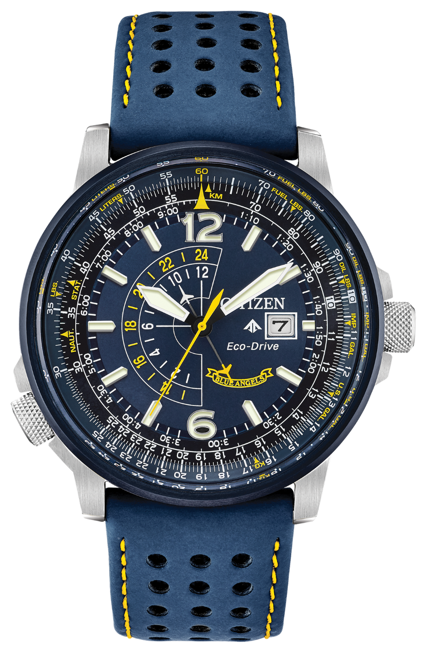 Citizen Promaster Nighthawk Leather Watch - Blue Angels