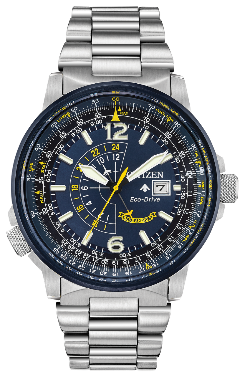 Citizen Promaster Nighthawk Stainless Watch - Blue Angels