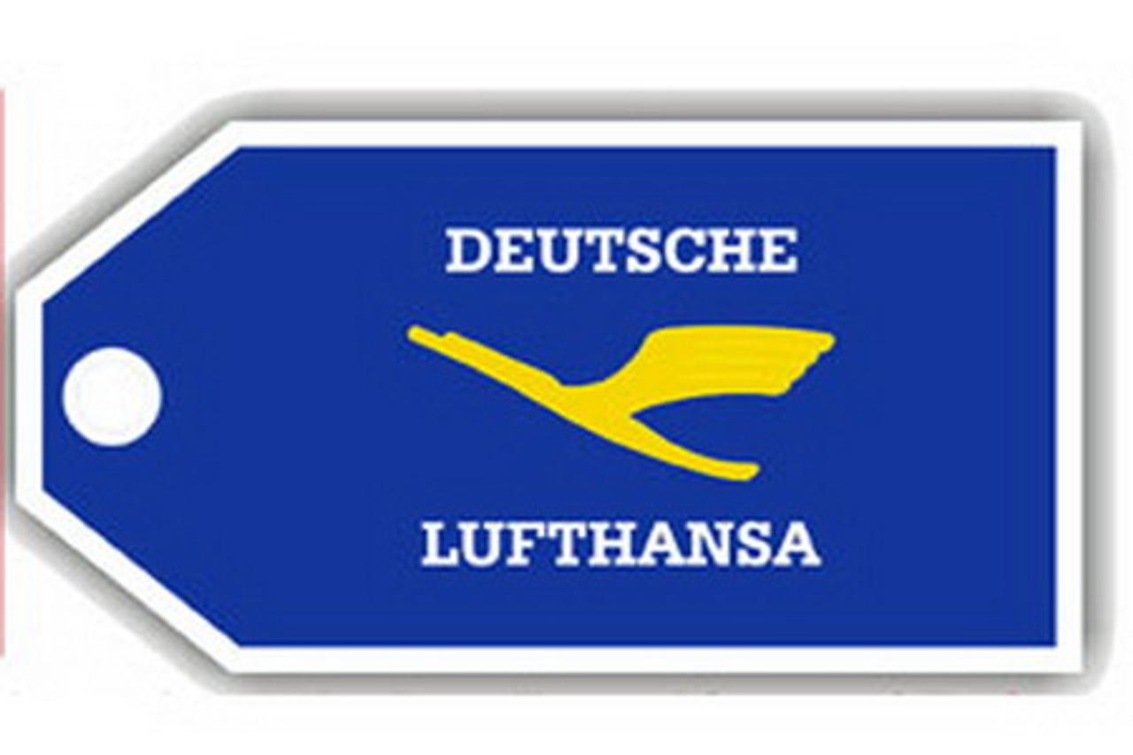 Lufthansa Retro Luggage Tag