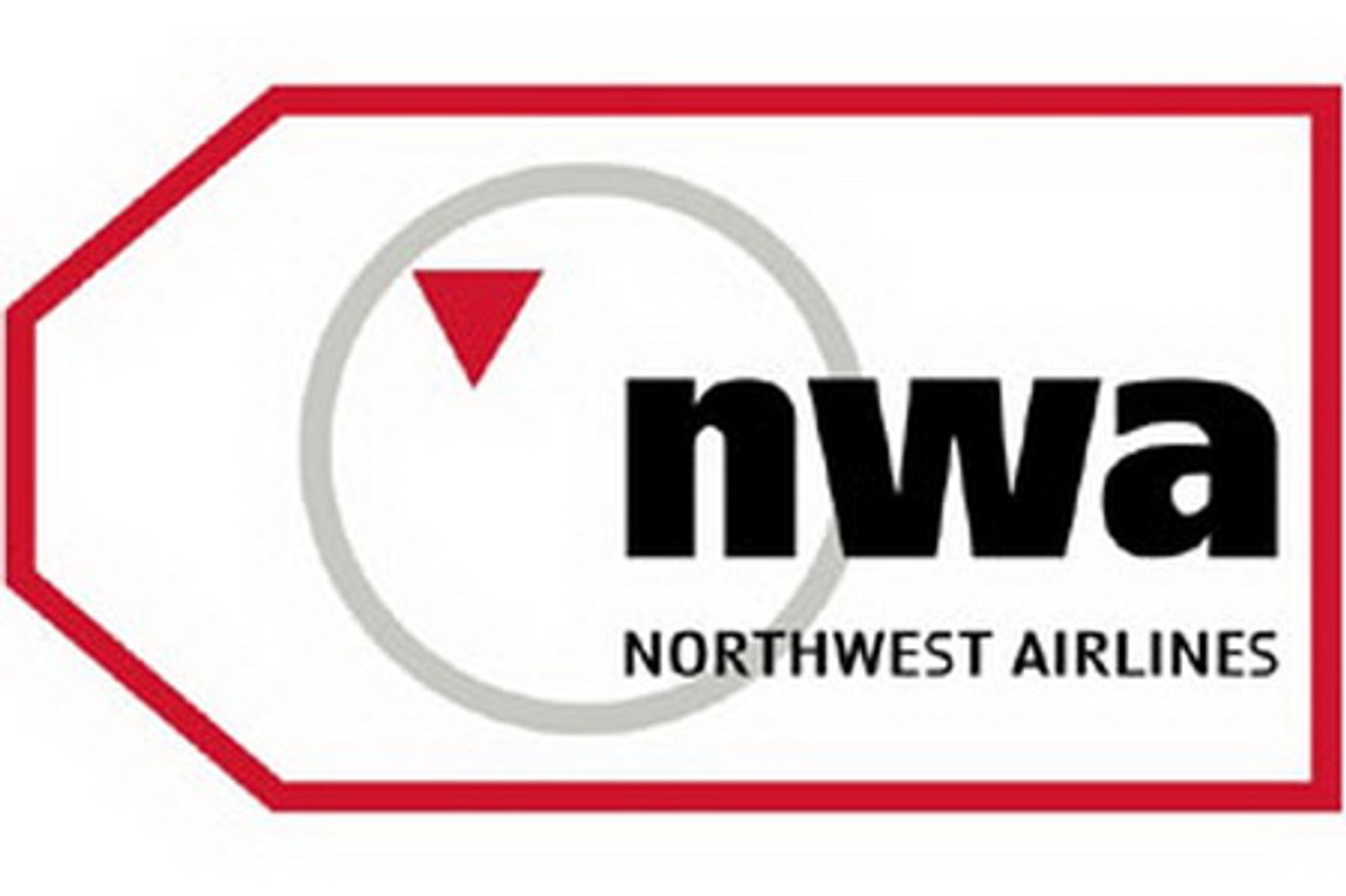 Northwest Airlines Luggage Tag