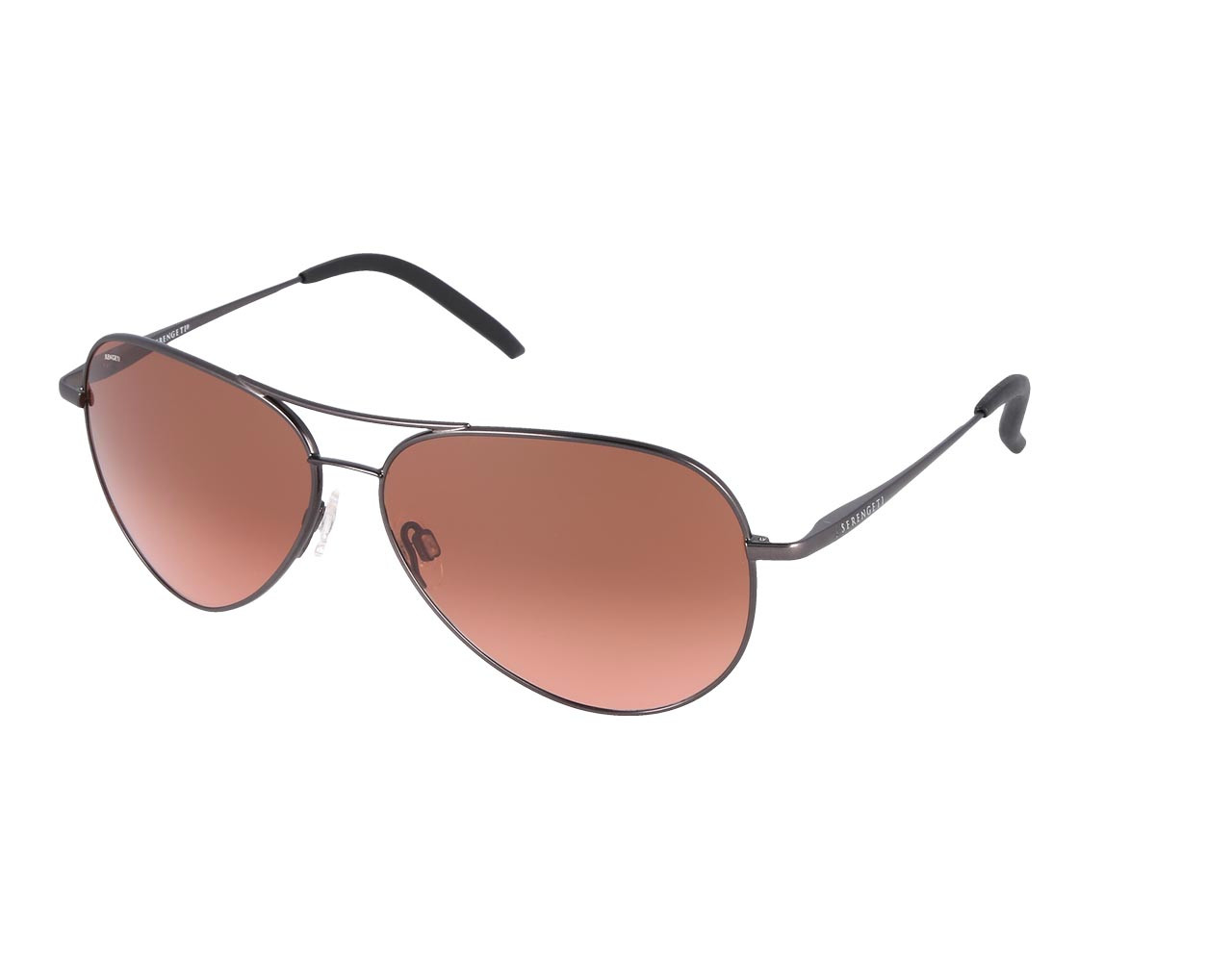 Serengeti Carrara Satin Gunmetal Polarized Driver Polarized
