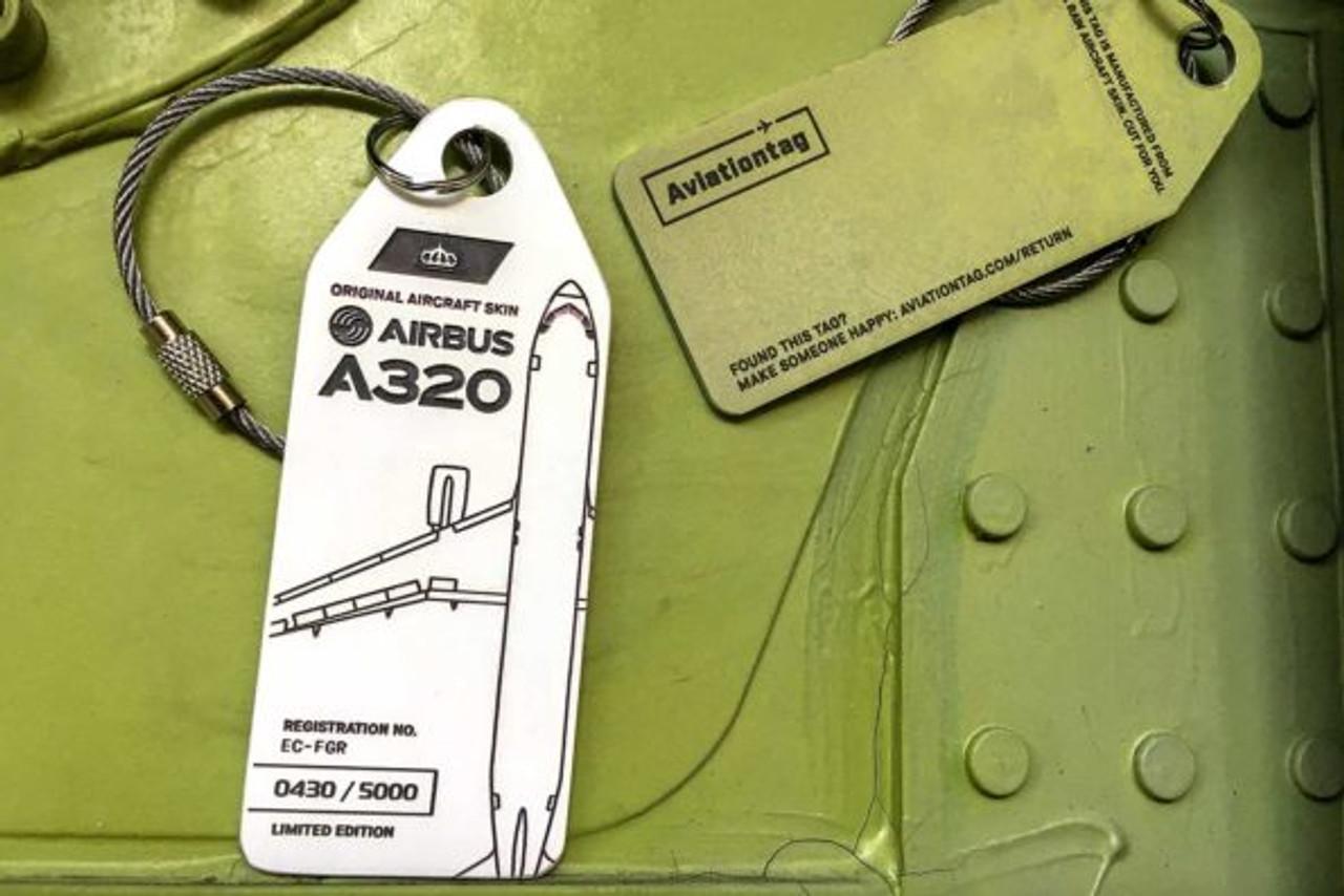 AviationTag Airbus A320 Keychain  - EC-FGR