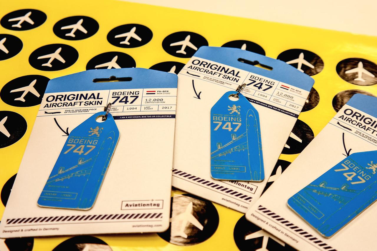 AviationTag Boeing 747-400 Keychain  - PH-BFR