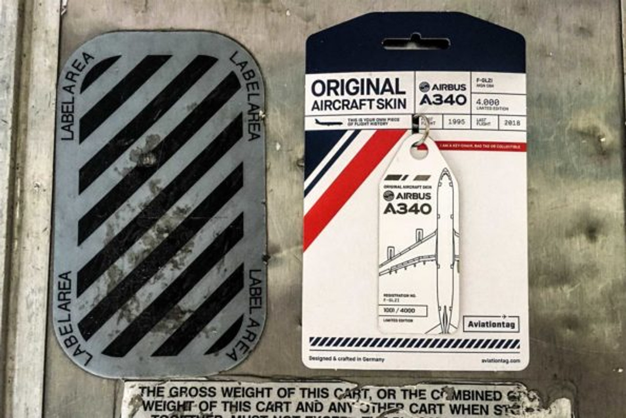 AviationTag A340-300 Keychain  - F-GLZI
