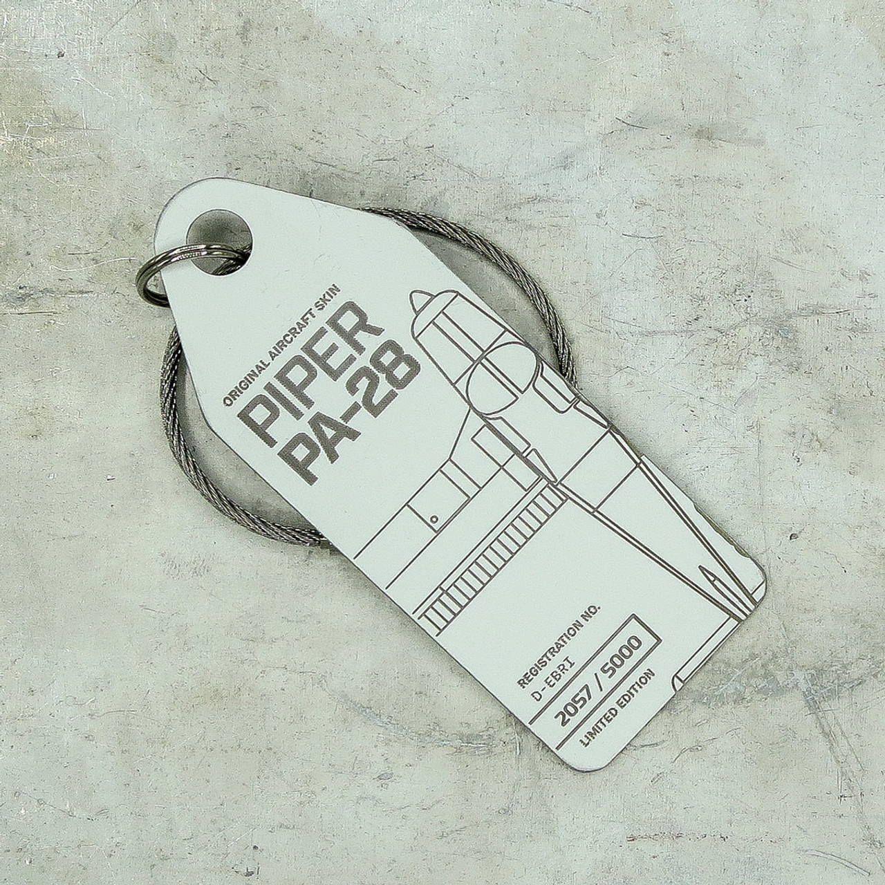 AviationTag Piper PA-28  Keychain  - D-EBRI