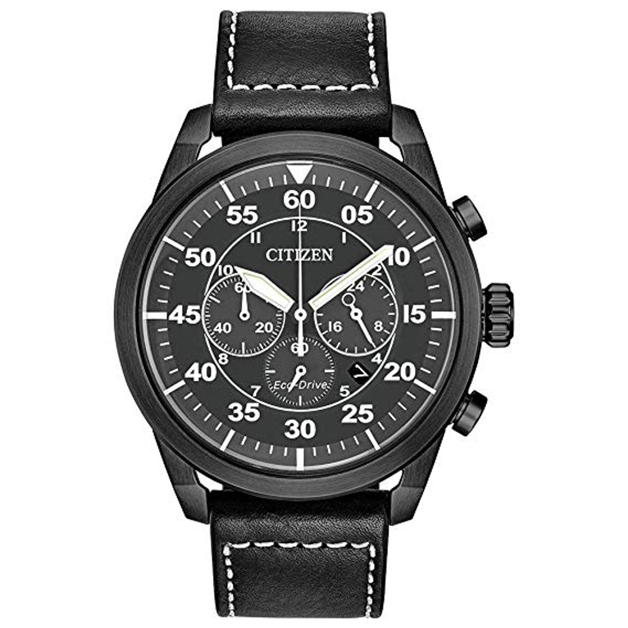 Citizen Avion Chronograph - Black Leather