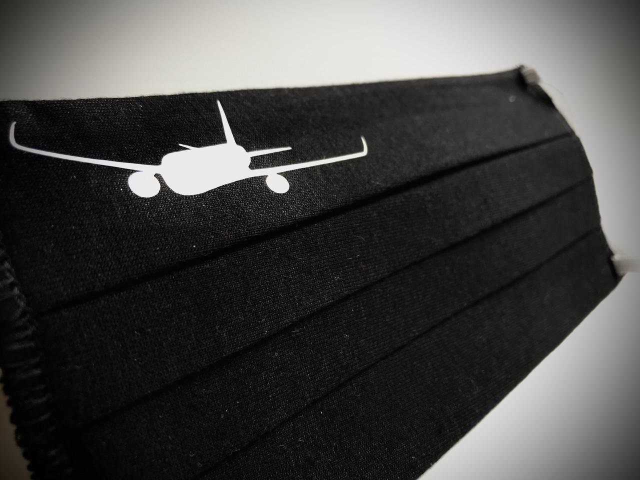 Reusable Aviation Mask: Jet BLACK (Mask-2)