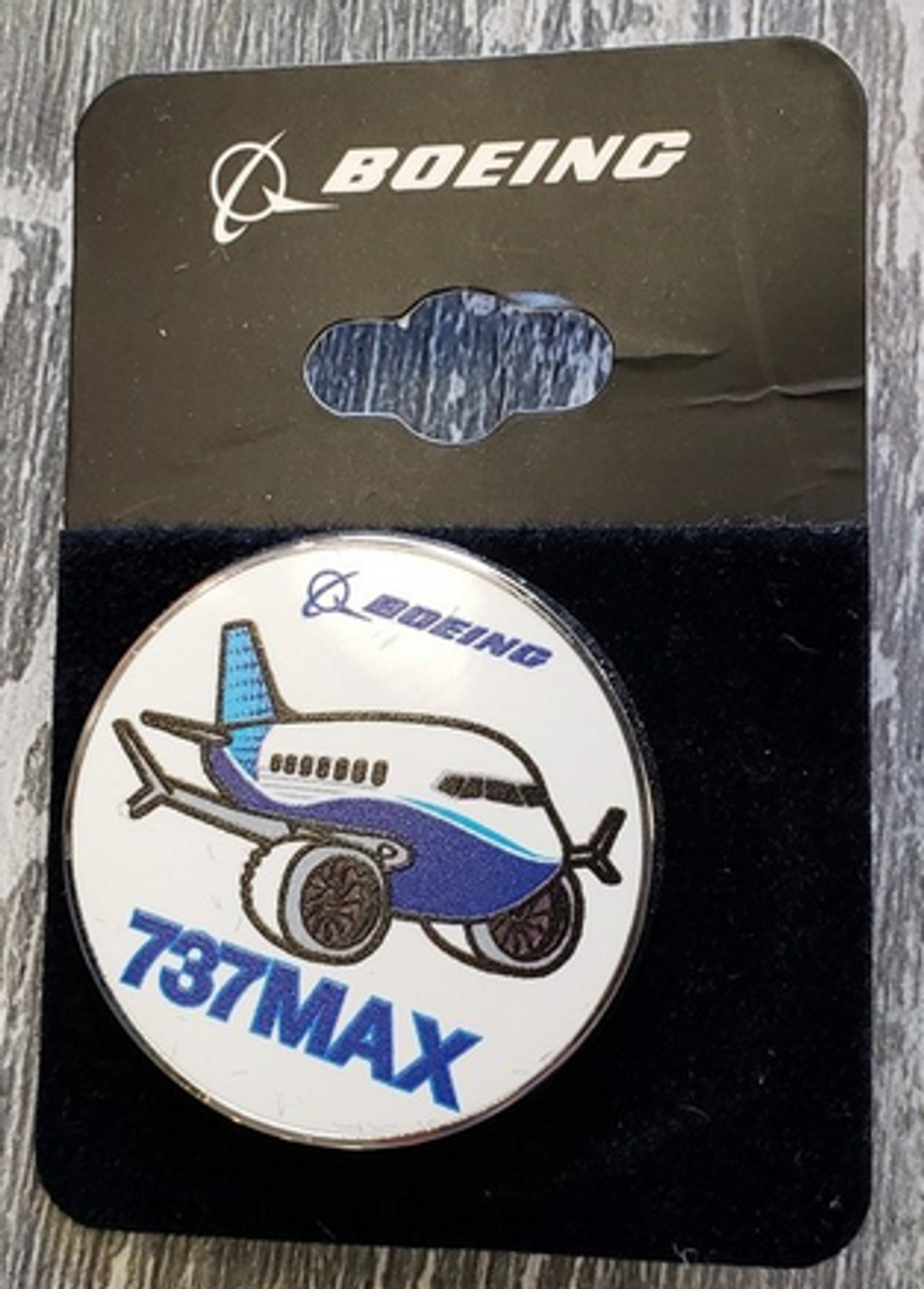 Lapel pin - Boeing 737MAX Pudgy Circle