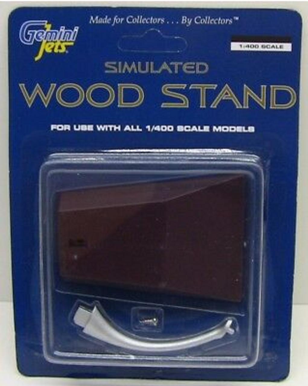 Gemini Jets 1:400 Simulated Wood (Metal) Stand