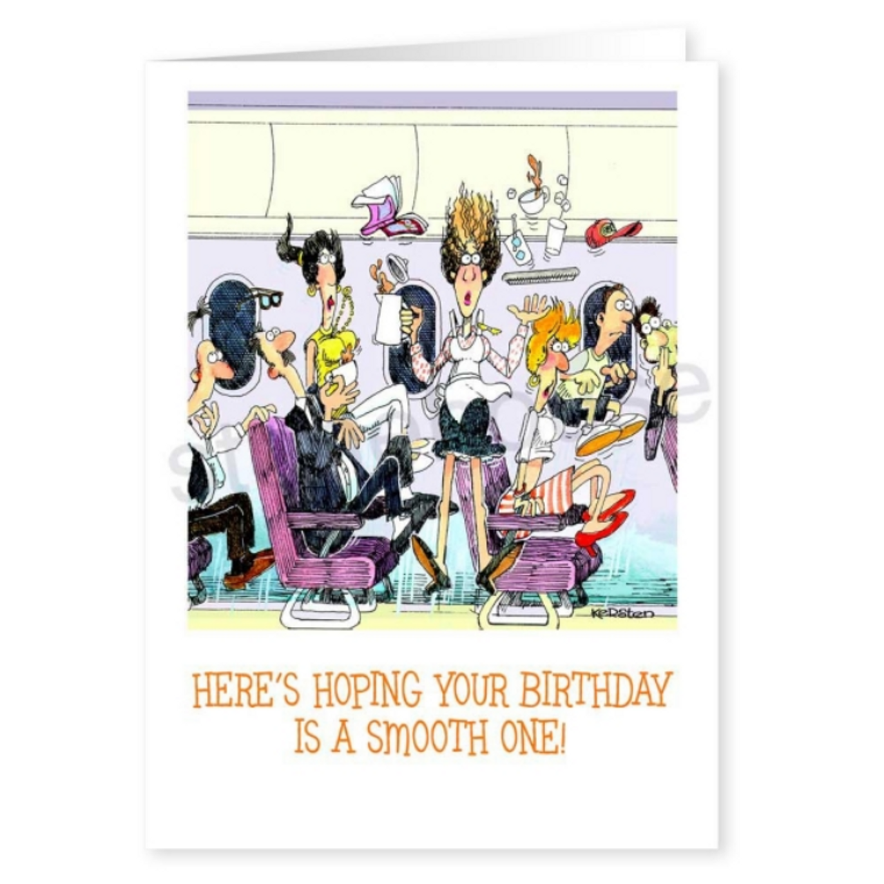 """Smooth Flying Birthday Card"" Single Card"