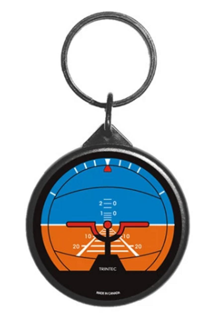 Classic Artificial Horizon Instrument Keychain