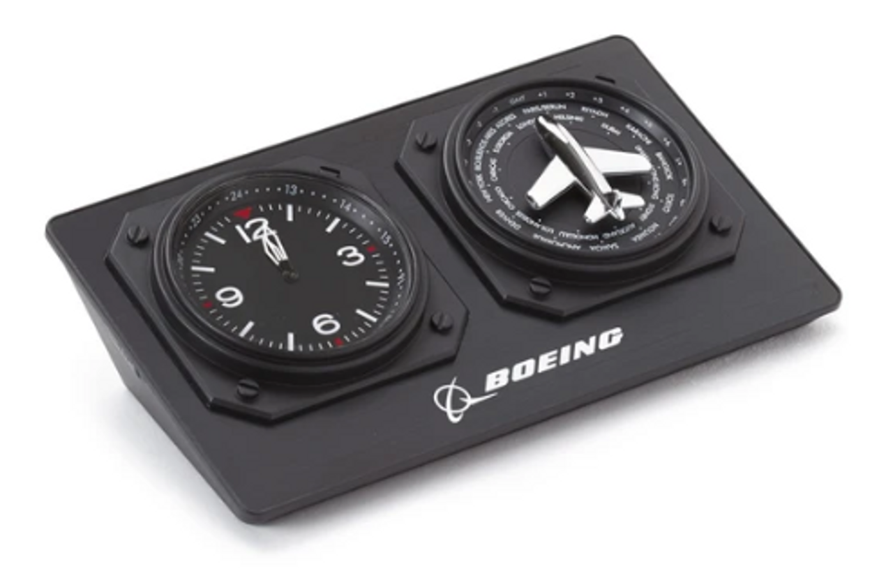 Boeing World Time Desk Clock
