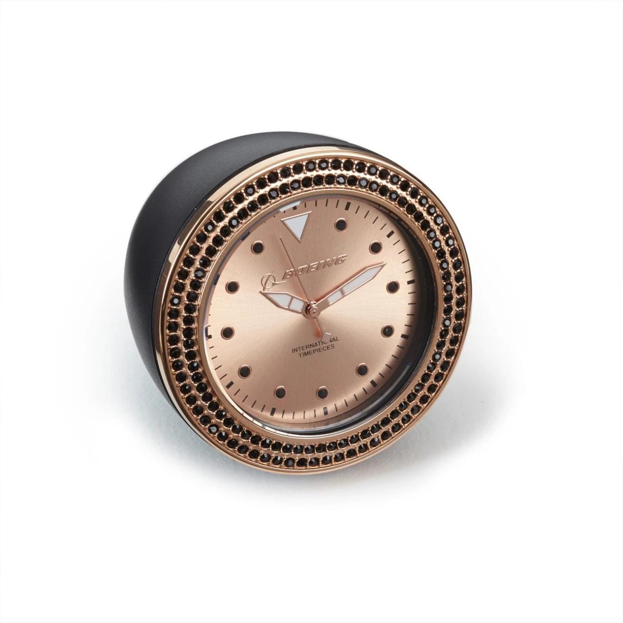 Boeing Rose Gold Accent Desk Clock