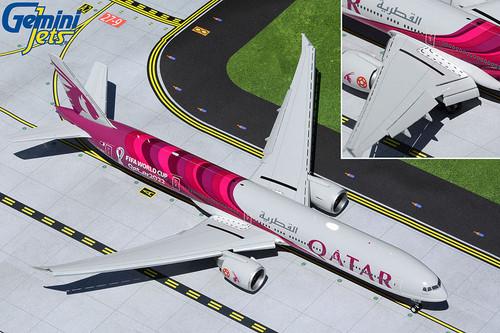 """Gemini200 1:200 Qatar Airways 777-300ER """"FIFA World Cup 2022, Flaps Down"""""""