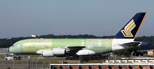 """Phoenix 1:400 Singapore Airlines A380 """"Primer Livery"""""""