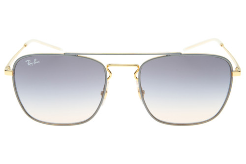 Ray-Ban Square Grey Gradient Lens Gold Frame Sunglasses