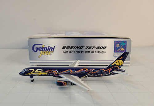 "Gemini Jets 1:400 ATA 757-200 ""25th Anniversary"""