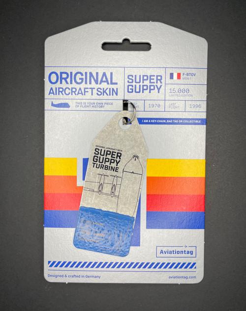 AviationTag Super Guppy Keychain - Split Blue (#3191)