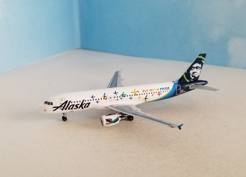 """Aeroclassics 1:400 Alaska Airlines A320 """"Fly with Pride"""""""